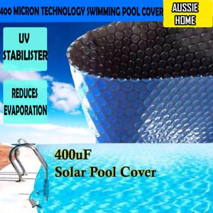 KASABUBBLE BLUE / BLACK 400 Micron Technology Swimming Pool Cover 4 X 10m