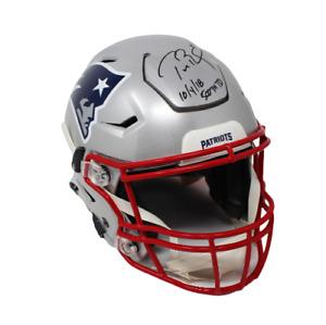 Tom Brady New England Patriots Signed Speed Flex Helmet 500th TD Insc Tristar
