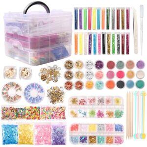 52-220pcs Epoxy Resin Casting Silicone Mold Kit Jewelry Making Pendant Craft DIY