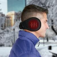 The Rechargeable Heated Ear Heat Warmers Black USB charging cable