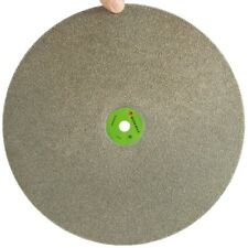 "Grit 80 Diamond coated 16"" inch Flat Lap wheel Lapidary lapping polishing disc"