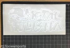 Metal Mulisha Icon Die Cut Sticker White 8 Inch