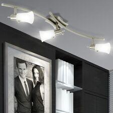 Couvrir Lampe Spot Bureau Lampe réglable Acier verre satiné IP20 Salon