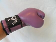 Purple Boxing Gloves in Leather 12oz