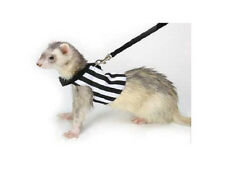 MARSHALL PET FERRET SPORT REFEREE HARNESS BLACK & WHITE FREE SHIPPING TO USA