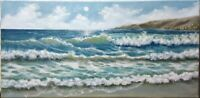 "Art,oil painting,California surf 20""/10"" Seascape,ocean view, landscape,waves"