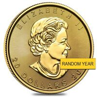 1/2 oz Canadian Gold Maple Leaf $20 Coin (Random Year)