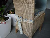 Stuhlkissen 40 x 40 x 4 cm Sitzkissen Rubin blau mit Schleife