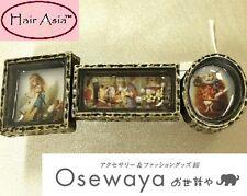 "Alice in Wonderland 3"" barrette/hair clip by OSEWAYA brand of Japan"