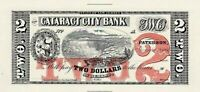 ABNC PROOF OR INTAGLIO PRINT OF $2 CATARACT CITY BANK PATTERSON NJ *FREE SHIP*