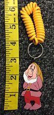 Disney Snow White Dwarf Sneezy Rubber Key chain New