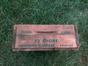 Vintage Remington 22 Short 10000 HI Speed Kleanbore Wood Ammo Crate/Box