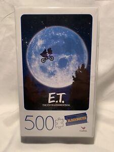 E.T. Movie 500 Piece Puzzle - Plastic Retro Blockbuster VHS Video Case - New