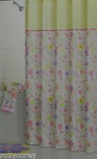 Blossoms & Blooms Easter Spring Floral Fabric Shower Curtain 70x70 Nip