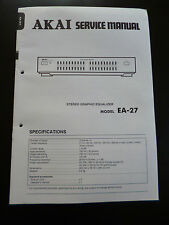 Original Service Manual  Akai Stereo Graphic Equalizer EA-27
