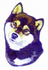 Large Embroidered Zippered Tote - Shiba Inu Bt3511