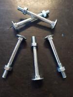 Bullone TTDE in 4.5 - 57,2   cavicchio da M6x1x60 mm zincato 10 - 20 pz x conf.