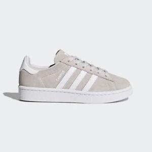 adidas Kids Originals Campus Shoes Grey/White UK 11.5 SH02