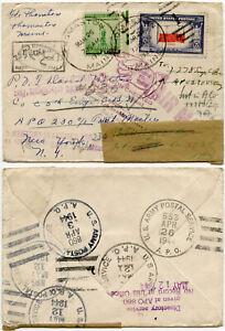 WW2 USA APO ICELAND REDIRECTED from MAINE + APO 1944