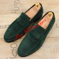 Mens Suede Moccasin Gommino Loafers Slip On Driving Fashion Leisure casual Shoes