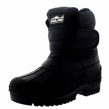 Womens Insulated Winter Snow Boots Thermal Waterproof Nylon Cold Weather Size 10