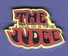 GTO THE JUDGE HAT PIN LAPEL PIN TIE TAC ENAMEL BADGE #1175