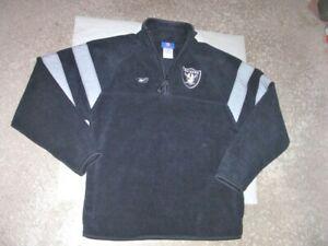 OAKLAND RAIDERS athletic Fleece Pullover youth Large