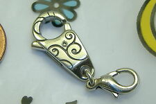 NEW Brighton soho etched swirl clip clasp charm extender for bracelet
