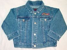 Baby Gap Jean Jacket Bears Blocks Cotton 12-24 M Tartan Plaid Blackwatch