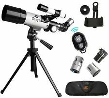 Sky Watching Telescope Set Astronomy Refractor Glass Optics Smartphone Adapter