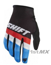 Shift WHIT3 Label Air Motocross OffRoad Race Gloves Black Red Blue Youth Large