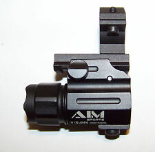 Tactical Clamp Mount + LED Compact Flashlight Fits Savage Arms Stevens 320 Pump