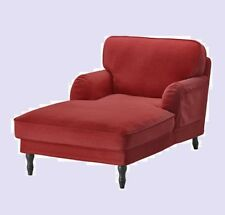 IKEA Stocksund Chaise Lounge Ljungen Light Red Cover(Add Mates w/DiscntShpg)NEW
