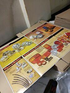 "Original Lucas Commercial And Car Poster 33"" X 23 1/2"" Man Cave Garage."