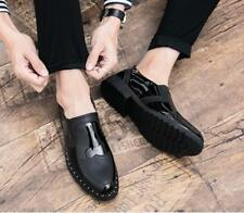 Mens Patent Leather Brogue Slip on Shoes Pumps Nightclub Spell Brogue Casual