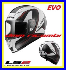 New 2017 Casco Integrale fibra LS2 FF323 ARROW C EVO FURY Carbonio Bianco Tg.XL