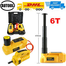 6 Ton Electric Hydraulic Floor Jack 12V Car Jack Lift Impact Wrench Repair Tool