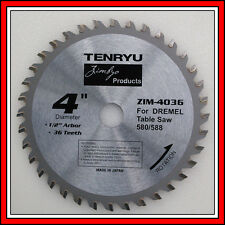 Tenryu 36 tooth carbide blade 4 inch made in Japan for Dremel Table Saw 580 588