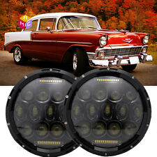 Pair 7inch Round LED Headlights Projector fit for chevrolet Classic Truck Chevy