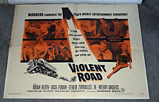 VIOLENT ROAD original 1958 22x28 movie poster BRIAN KEITH/MERRY ANDERS