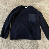 Uniqlo x Engineered Garments Navy Fleece Crewneck Sweater Sz Large