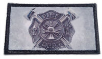 Firefighter Maltese Cross Patches - 2 patches Subdued color Hook & Loop