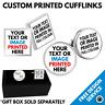 Custom Printed Cuff Links • Bespoke Personalised Logo Image Print Cufflink - Lot