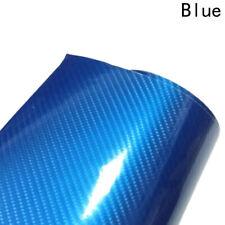 3D 4D 7 BLUE Carbon Fiber Vinyl Film Wrap DIY Waterproof Auto Motorcycle Car