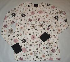 NEW Scrubs ~ Print Scrub Warm up Jacket ~ XS ~ Polka Flowers