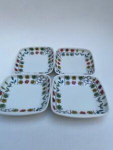 Emilio Pucci Piemonte Rosenthal Condiments plates set of 4 Vintage