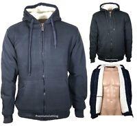 Mens Womens Hooded Fur Fleece Jacket Thermal Thick Warm Work Casual Winter jacke