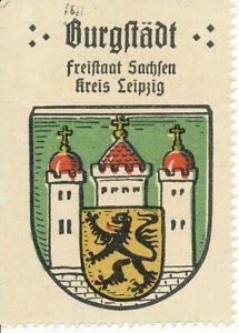 Sondermarke (Keine AK!) Burgstädt Freistaat Sachsen Kreis Leipzig 156.604