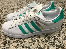 Adidas Men Originals Superstar Sneakers White Green 2018 Lifestyle B41995 Sz 11