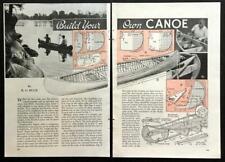 16' Canadian Style Cedar Canoe 1938 HowTo build PLANS